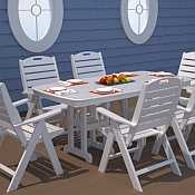 Nautical 37in x 72in Table <br>Recycled Plastic