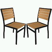Plastique Side Chair - Pair A100
