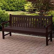 72in Rockford Bench<br>Recycled Plastic