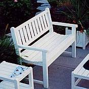 Traditional Garden Bench<br>Recycled Plastic