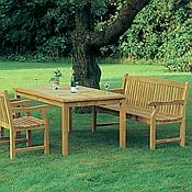 Avant Expansion Table with 2 Classic Chairs and Bench