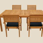 Avant Expansion Table and 4 Stackable Chair Set