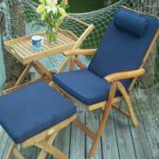Estate Chair with Footrest