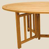 Oval Flip Table