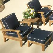 Miami Chairs with Ottoman and Side Table