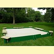 Sandlock 10ft  x 10ft Sandbox Kit with Cover