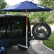 Umbrella Stand-Tailgate Support System