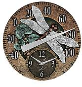 Cast Aluminum Dragonfly Thermometer