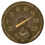 Bronze Cast Aluminum Thermometer