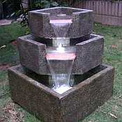 Cascadia Falls Electric Corner Fountain