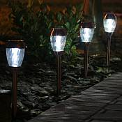 Charleston Solar Pathway Lights - Copper