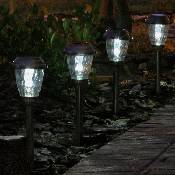 Charleston Solar Pathway Lights - Pewter