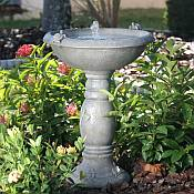 Country Garden Bird Bath with Solar Fountain