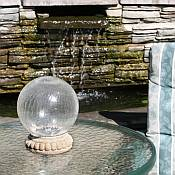 Crackled Glass Solar Gazing Ball
