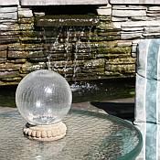 Crackled Glass Solar Gazing Ball