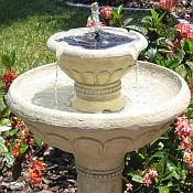 Kensington Two Tier Solar Water Fountain