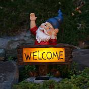 Welcome Gnome Solar Accent Light