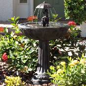 Piggyback Umbrella Series Solar Fountain - 20336R01