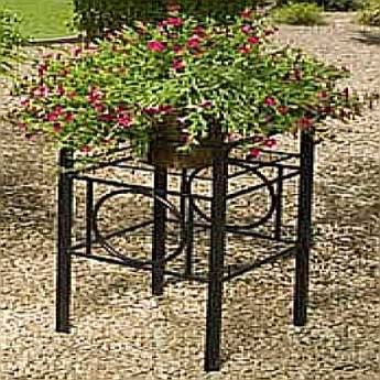 Planter Stand 20in Black