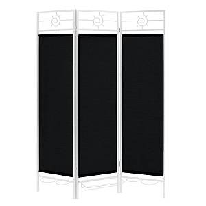 Sunsational Sunburst Patio Privacy Screen, White Frame - Black Fabric