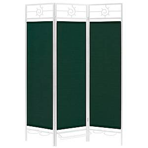 Sunsational Sunburst Patio Privacy Screen, White Frame -Green Fabric
