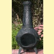 Grape Leaf Chiminea  w/ Gas Kit