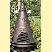 Garden Chiminea with Gas Kit