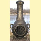 Pine Style Chiminea w/ Gas Kit