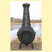 Butterfly Chiminea w/ Gas Kit