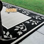 Outdoor Rugs made with DuraCord - Floral