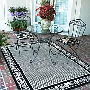 Outdoor Rugs made with DuraCord - Botanical Neutral