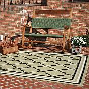 Outdoor Rugs made with DuraCord - Monoco Pesto