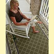 Outdoor Rugs made with DuraCord - Trellis Pesto