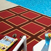 Outdoor Rugs made with DuraCord - Window - Garnet