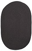 Cottage Braid Everywear™ Rug Solid Black