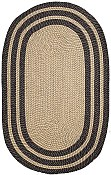 Stripe Black Lenox Braided Everywear� Rug