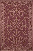 Patio Everywear� Rug  Wrought Iron Red