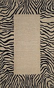 Spello Everywear™ Rug - Zebra Border Neutral