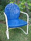 Metal Lawn & Patio Chairs - 1950fts Style