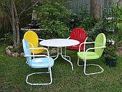 Metal Lawn & Patio Set  - 1950fts Style