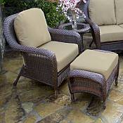 Tortuga Lexington Club Chair & Ottoman