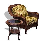 Tortuga Lexington Club Chair & End Table