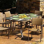 Tortuga Maracay 7pc Resin Wicker Dining Set