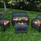 Tortuga Portside Dark Roast Wicker Set