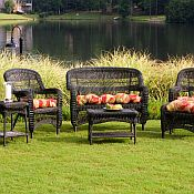 Tortuga Portside 6-Piece Wicker Seating Set