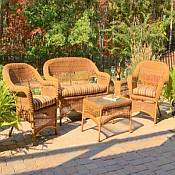 5 Pc Sanibel Resin Wicker Set