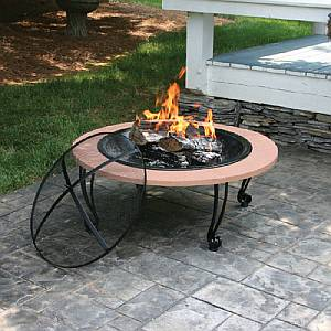 Mosaic Hearth and Porcelain Firepit