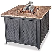Outdoor Gas Firebowl with Granite Mantel