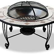 Mosaic Tile Outdoor<br>Firepit
