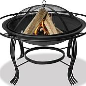 Black Firepit with Outer Ring